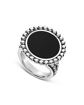 LAGOS - Sterling Silver Maya Onyx Circle Ring