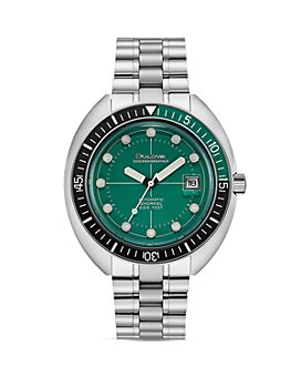 Bulova - Oceanograper Green Dial Watch, 44mm