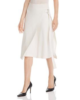 Helmut Lang - Wool-Blend Faux-Wrap Skirt