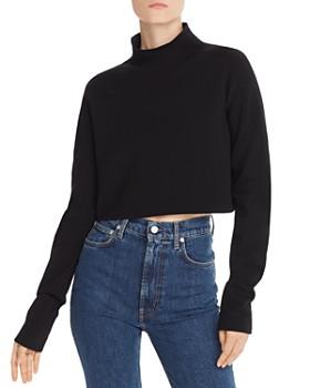 Helmut Lang - Merino Wool-Blend Cropped Sweater