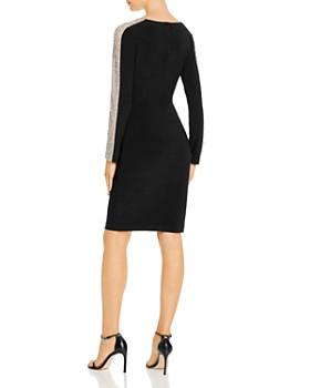 AQUA - Beaded-Sleeve Cocktail Dress - 100% Exclusive