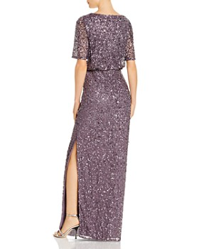 Adrianna Papell - Beaded Floor-Length Gown