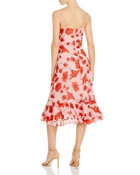 Eliza J - Floral Faux-Wrap Midi Dress