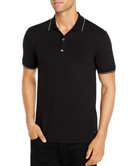 HUGO - Dinoso Stripe-Trimmed Slim Fit Polo Shirt