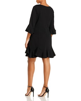 Adrianna Papell Plus - Ruffle-Trimmed Dress