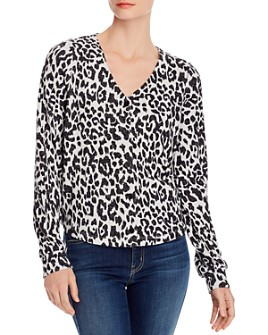 Design History - Leopard-Print Cropped Cardigan