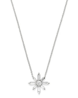 Bloomingdale's - Diamond Starburst Pendant Necklace in 14K White Gold, 0.25 ct. t.w. - 100% Exclusive