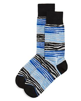 The Men's Store at Bloomingdale's - Color-Block Zebra Socks - 100% Exclusive