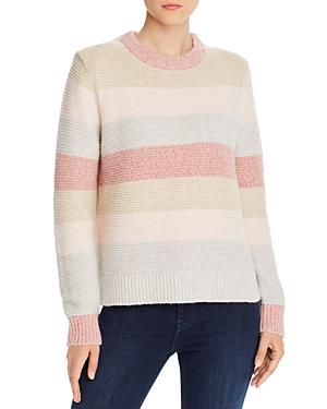 Rebecca Taylor Sweaters LA VIE REBECCA TAYLOR PASTEL STRIPED SWEATER