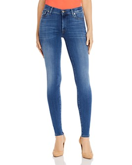 7 For All Mankind - Slim Illusion High-Waist Skinny Jeans in Luxe Lovestory