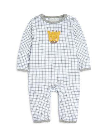 Albetta - Unisex Grid Print Giraffe Coverall - Baby