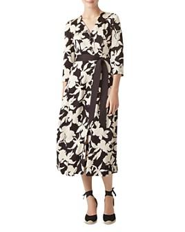HOBBS LONDON - Sandra Button-Front Floral Dress