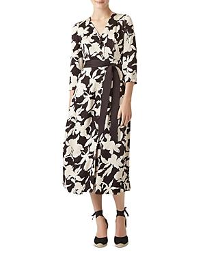 Hobbs London Sandra Button-Front Floral Dress