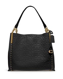 COACH - Dalton 31 Studded Leather Shoulder Bag