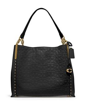 COACH - Dalton 31 Studded Leather Shoulder Bag