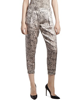 ATM Anthony Thomas Melillo - Snakeskin-Print Silk Jogger Pants
