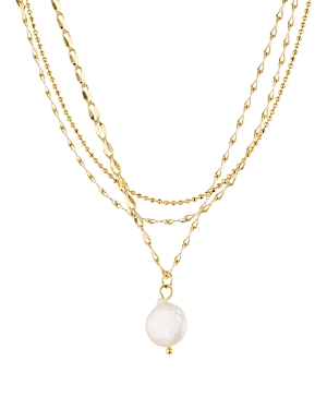 Jules Smith Layered Cultured Freshwater Pearl Pendant Necklace, 14-16