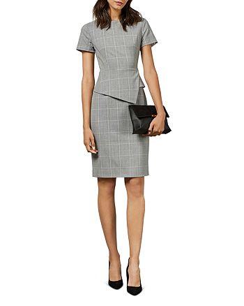 Ted Baker - Arriia Working Title Glen Plaid Peplum Dress