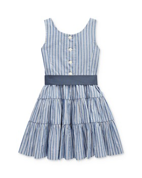 Ralph Lauren - Girls' Tiered Dobby Dress - Little Kid