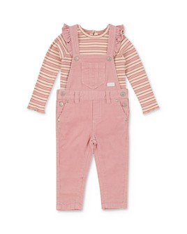 7 For All Mankind - Girls' Striped Tee & Corduroy Overalls Set - Baby