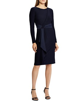 Ralph Lauren - Satin-Sash Jersey Dress