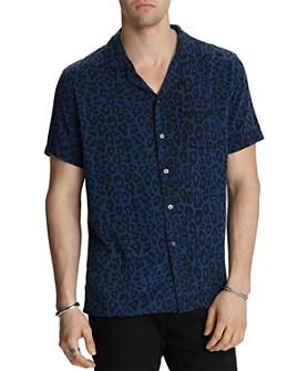 John Varvatos Star USA - Cameron Short-Sleeve Leopard-Print Slim Fit Shirt