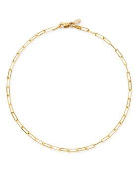 Zoe Lev - 14K Yellow Gold Open Link Ankle Bracelet