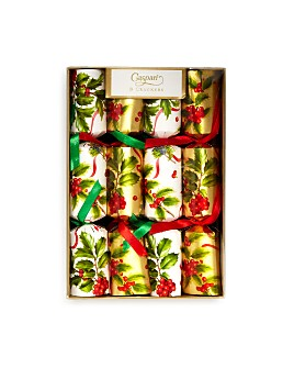 Caspari - Christmas Trimmings Crackers, Box of 8