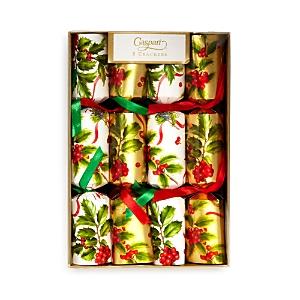 Caspari Christmas Trimmings Crackers, Box of 8