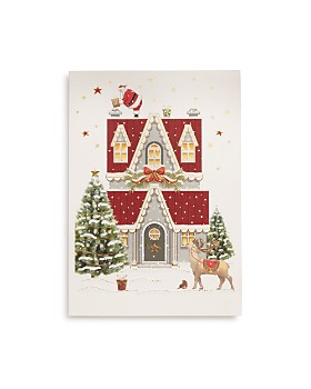 Design Design - Santa Reindeer and House Greeting Card, Box of 10