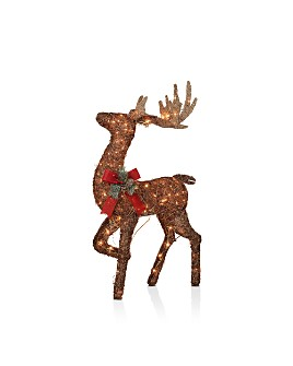 Gerson Company - Lighted Vine Standing Buck Figurine