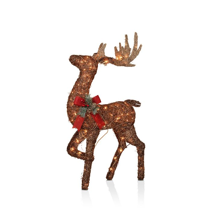 Gerson Company - Lighted Vine Standing Buck Figurine
