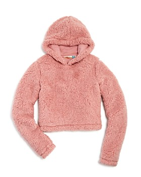 Vintage Havana - Girls' Faux Sherpa Hoodie - Big Kid