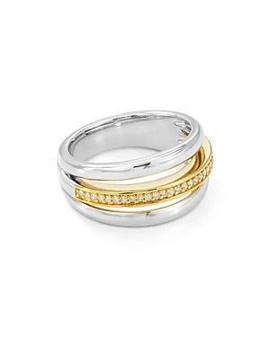 Bloomingdale's Marc & Marcella Diamond Ring in Sterling Silver & 14K Gold-Plated Sterling Silver, 0.