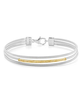 Bloomingdale's - Diamond Bangle Bracelet in 14K Gold-Plated Sterling Silver & Sterling Silver, 0.12 ct. t.w. - 100% Exclusive
