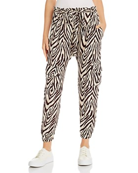 Current/Elliott - The Roxwell Zebra Print Cargo Pants