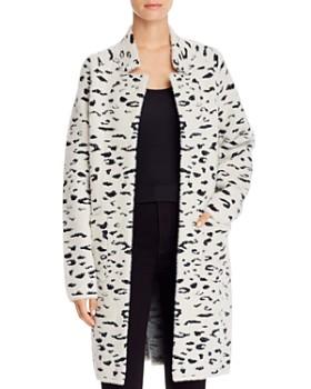 Bardot - Leopard Jacquard Sweater Coat