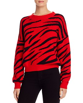 Bardot - Zebra-Stripe Sweater