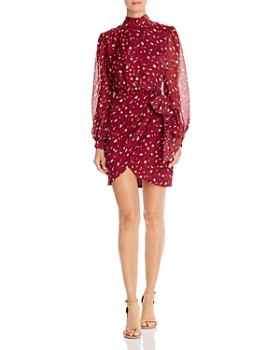 Bardot - Kalia Leopard Print Faux-Wrap Dress