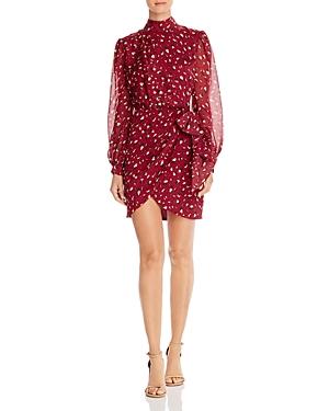 Bardot Dresses Kalia Leopard Print Faux-Wrap Dress