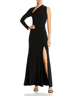 Avery G - One-Shoulder Long Sleeve Gown