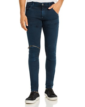 G-STAR RAW - 5620 3-D Zip-Knee Skinny Fit Jeans in Legion Blue