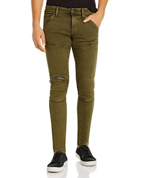 G-STAR RAW - 5620 3-D Zip-Knee Skinny Fit Jeans in Dark Shamrock
