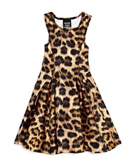 Terez - Girls' Leopard Print Skater Dress - Little Kid