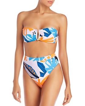 Red Carter - Alexa V-Bandeau Bikini Top & Skylar High-Leg High-Waist Bikini Bottom