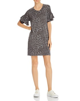 Sundry - Leopard Print T-Shirt Dress