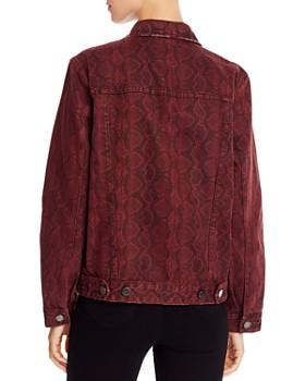 BLANKNYC - Snake Print Denim Jacket