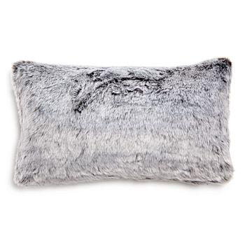 "Hudson Park Collection - Frosted Faux Fur Decorative Pillow, 12""x 20"" - 100% Exclusive"