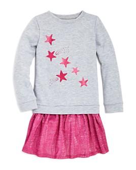 Mini Series - Girls' Star Print Layered-Look Dress, Little Kid - 100% Exclusive