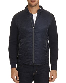 Robert Graham - Wuthering Mixed-Media Zip-Front Jacket